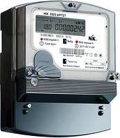 Лічильник трифазний з ж/к екраном НІК 2303 АРП1 1100 MC 3х220/380В прямого включення 5(100)А, з захистом від магнітних та радіозавад.