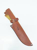 Чехол для ножа №7 кожаный рыжий 5*16 см ск2
