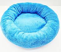 Лежак для собак и котов Комфорт Синий, d 500х145 ск2