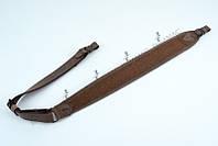 Ремень для ружья трапеция Крейзи коричневый ск2
