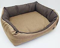 Лежак для собак и кошек Лофт, Loft коричневый 800х1200х255 ск2