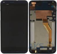 Дисплей (экран) для телефона HTC Desire 816 + Touchscreen with frame Original Blue