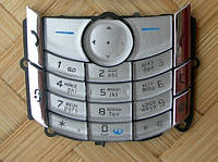 Клавиатура для Nokia 6680, Nokia 6681, High Copy, серебристая /Кнопки/Клавиши /нокиа