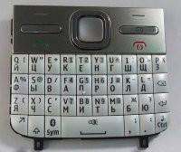 Клавиатура для Nokia E5-00, High Copy, Белая /Кнопки/Клавиши /нокиа