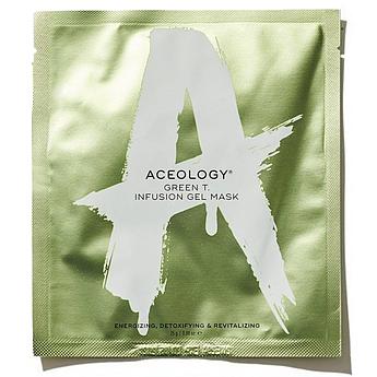 Тонизирующая маска для тусклой кожи с зелёным чаем Aceology Green Tea Infusion Gel Mask 25 г