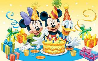 """Вафельная картинка для торта """"Микки Маус и друзья"""", (лист А4)"""