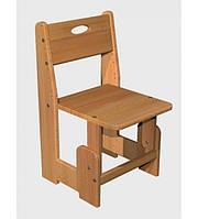 Растущий детский стул Домик, бук, фото 1