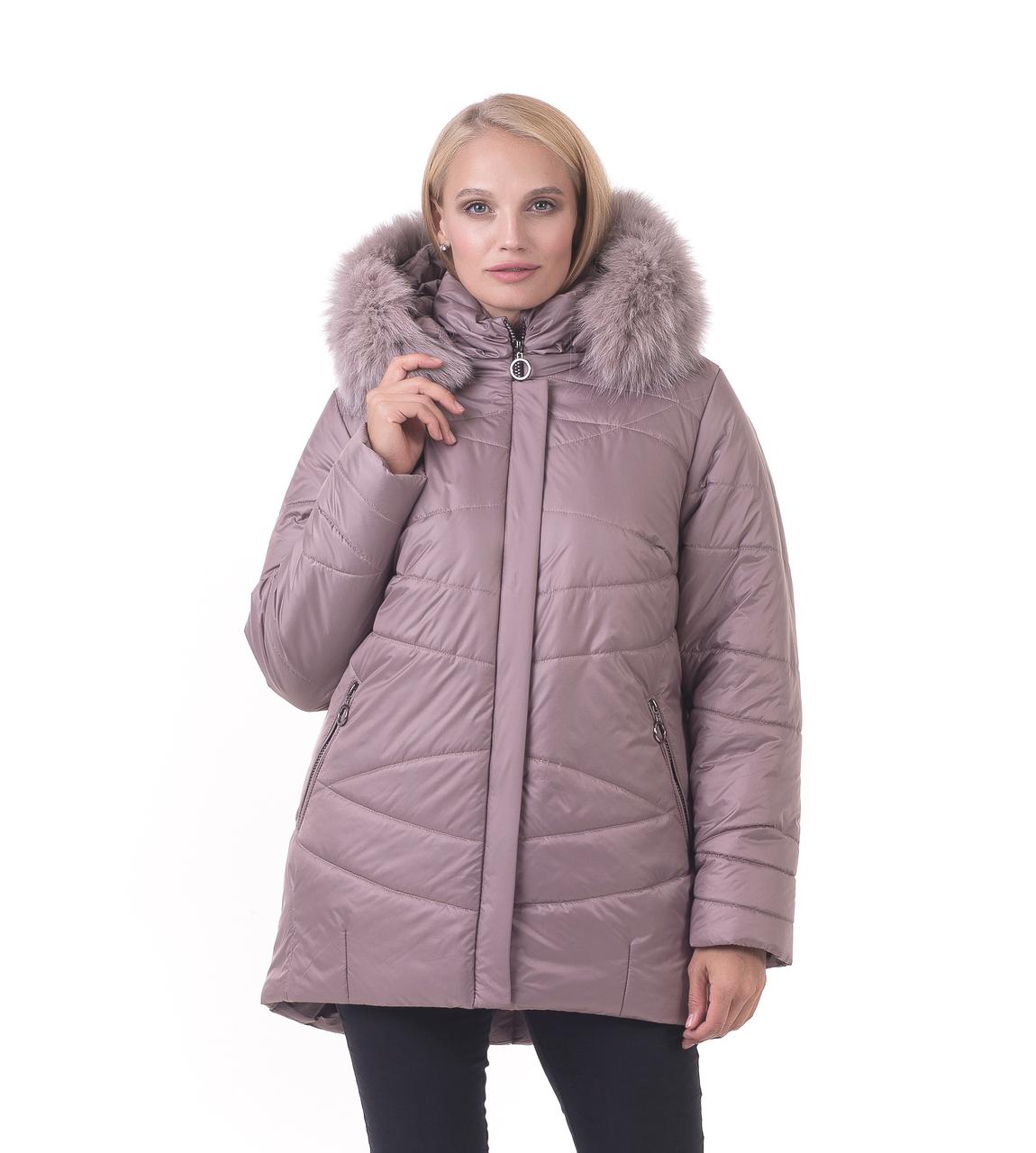 Молодіжна зимова куртка в світлому кольорі