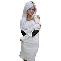 """Женское Платье """"Латки"""" 40, Белый"""