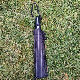 Зонт мужской черный в полоску Star Rain арт.308p-4