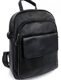 Рюкзак большой женский кожаный. Рюкзак женский черный молодежный (27418)