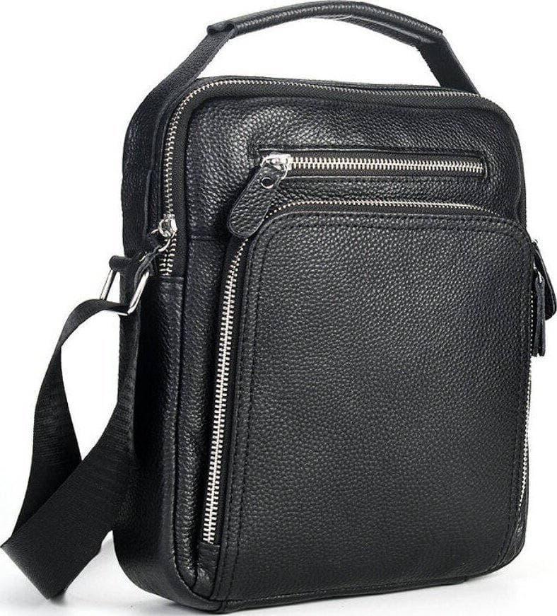Мужская кожаная сумка через плечо / мужские сумки из натуральной кожи