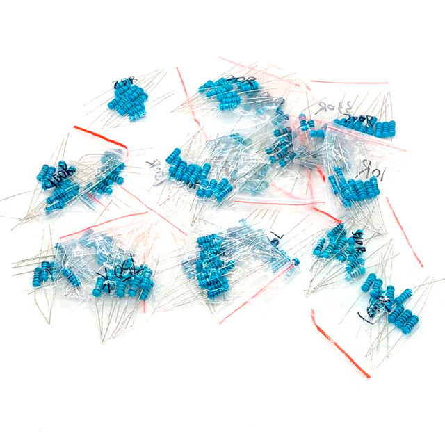 Набір резисторів 200 шт. 1 Вт (20 номіналів опорів по 10 шт 10R - 1МОм 1%)