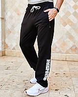 Чоловічі спортивні штани з кишенями вгорі на гумці і шнурку внизу прямі
