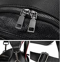 Стильний жіночий рюкзак з натуральної шкіри. Чорний шкіряний рюкзак міський (76590), фото 5