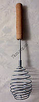 Кухонный венчик круглый с деревянной ручкой Оптом