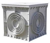 Колодязь кабельний пластиковий e.manhole.550.550.500.cover, 550х550х500мм з кришкою