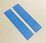 Термопрокладка 3K320-2015 2.0мм 10шт высечка 15х15мм синяя термоинтерфейс для ноутбука, фото 2