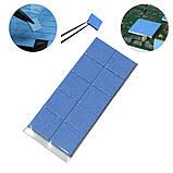 Термопрокладка 3K320-2015 2.0мм 10шт высечка 15х15мм синяя термоинтерфейс для ноутбука, фото 8