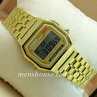 Бюджетные часы Casio F-91W Water Resist Gold
