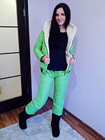 Спортивный костюм женский зимний Монклер мята , спортивные костюмы