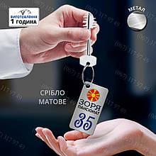 Брелоки - бирки для готельних ключів з металу з колечком і логотипом готелю виготовимо за 1 день