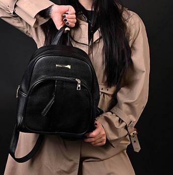 Рюкзак женский черный код 7-666