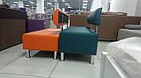 Диван BNB Solo PLUS 1500x540x750 оранжевый.  Флай 2218. Для школы, больницы, приемной, ожидания, фото 5