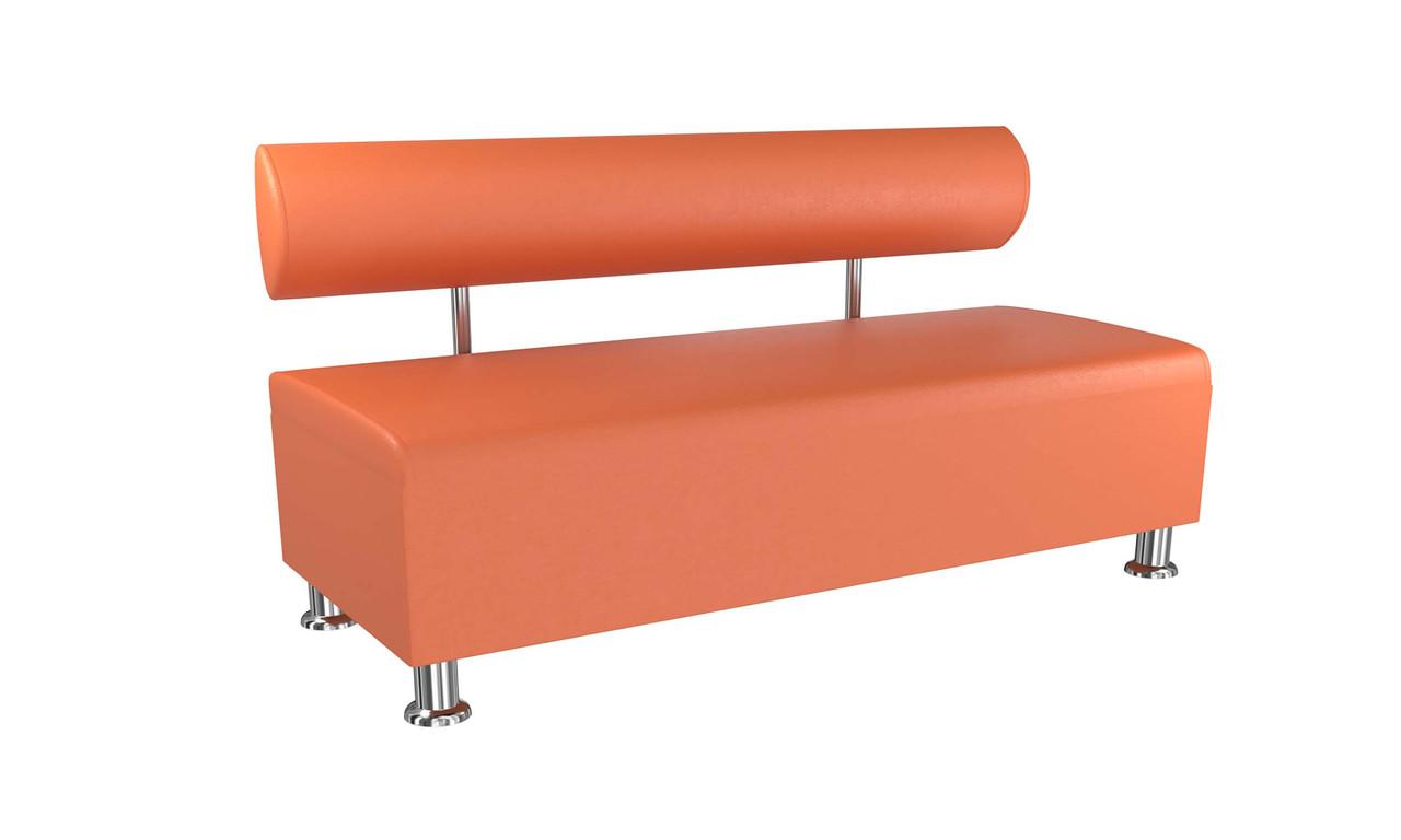 Диван BNB Solo PLUS 1500x540x750 оранжевый.  Флай 2218. Для школы, больницы, приемной, ожидания