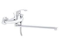 Однорычажный смеситель в ванную ZERIX NHB 135 кран смеситель для ванной поворотный из силумина хром Чехия