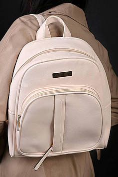 Рюкзак жіночий молочний код 7-666