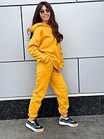 Женский утепленный спортивный костюм с худи оверсайз