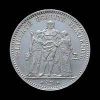 5 Франків 1876 А Геркулес і Музи, Франція