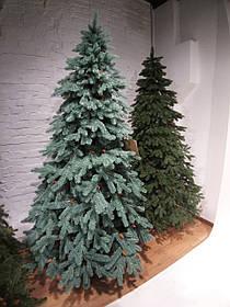 """Искусственная новогодняя голубая елка с литыми ветками """"Зоряна голубая"""" с шишками, высота 2,2 м"""