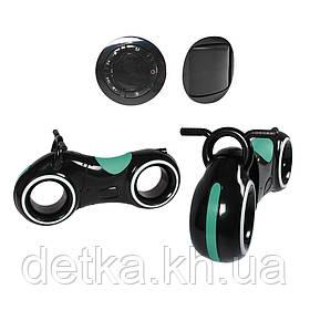 Беговел GS-0020 Black/Green Bluetooth LED-подсветка