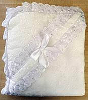 Крыжма для крещения белая с кружевом №2, фото 1