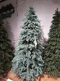 """Искусственная новогодняя голубая елка с литыми ветками """"Зоряна голубая"""" с шишками, высота 2,8 м"""