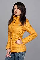 Женская демисезонная куртка. Код модели К-58-12-16. Цвет горчичный.