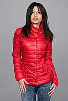Женская демисезонная куртка. Код модели К-58-12-16. Цвет красный.