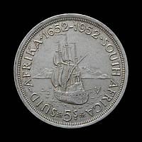 5 Шилінгів 1952 300 років основи Кейптауна, ПАР