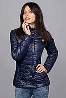 Женская демисезонная куртка. Код модели К-58-12-16. Цвет темно синий.