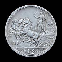 2 Ліри 1914 Квадрига, Італія / Італія
