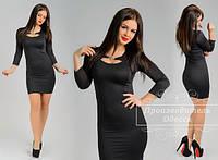 Маленькое черное платье со вставками по бокам