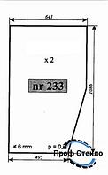 Стекло погрузчик немецкий UN-50 - двери (левый, правый)
