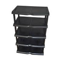 Полочка для обуви, черная (31*48*80 см), ТМ PROFF