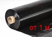 Пленка черная строительная как укрывной материал для защиты фундамента и стройматериалов, 200 мкм