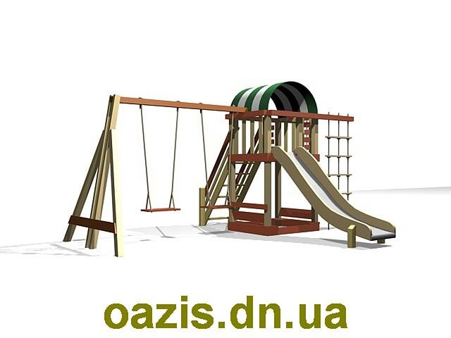 """Детская площадка """"Вежа-1"""" WS005-2 с качелями от """"Стожар"""""""