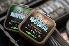 Поводковый матеріал Korda Super Natural 25lb Brown