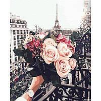 "Картина за номерами ""Букет троянд в Парижі"" (GX32929)"