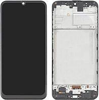 Дисплей для Samsung Galaxy M21 (2020 ) M215, модуль (екран) з рамкою - передньою панеллю, OLED